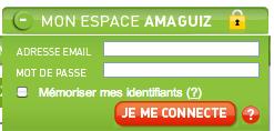 Amaguiz.com espace personnel