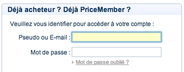 priceminister mon compte client