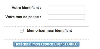 Espace client Poweo sur www.poweo.com