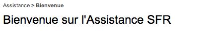 Service client SFR sur assistance.sfr.fr