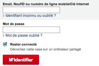 Ma Facture SFR Neufbox sur www.sfr.fr