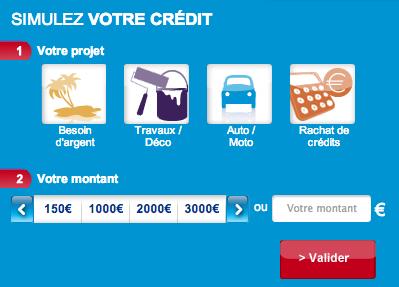 Simulation de Crédit sur Sofinco.fr