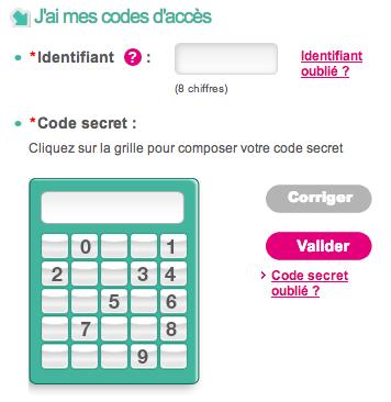 Mon relevé de compte sur www.facet.fr